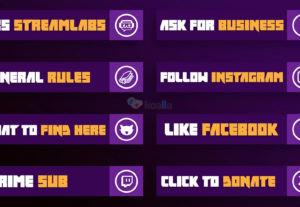 Twitch | Σχεδιασμός Κουμπιών, Emotes & Logo